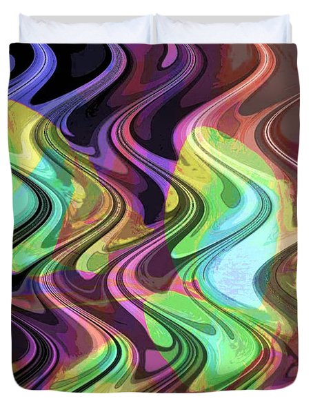 Wavy Duvet Cover by Yael VanGruber