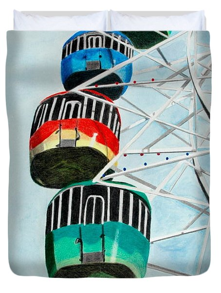 Way Up In The Sky Duvet Cover