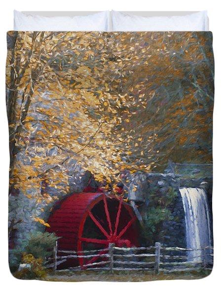 Wayside Inn Grist Mill Duvet Cover by Jean-Pierre Ducondi