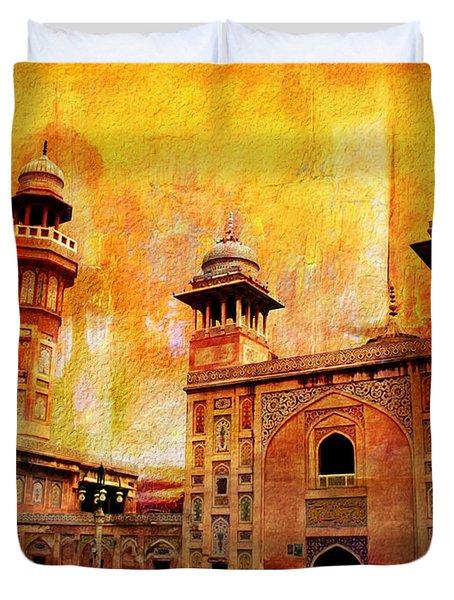 Wazir Khan Mosque Duvet Cover by Catf