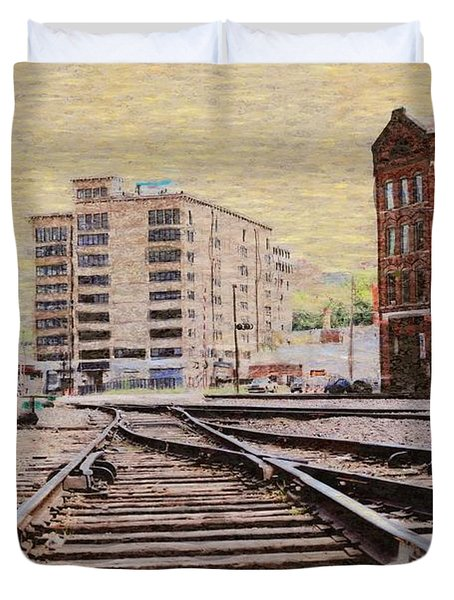Wb - West Bottoms - Kcmo Duvet Cover by Liane Wright