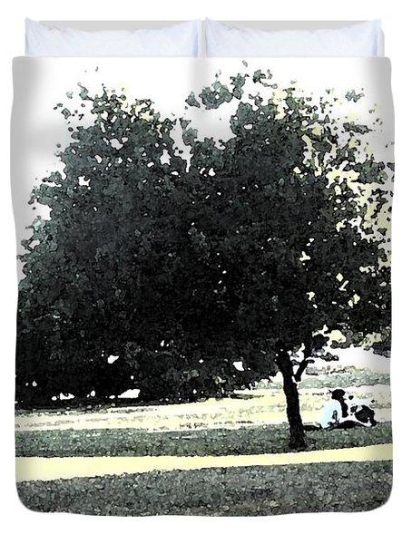Wc Resting Tree Duvet Cover by Nicki Bennett