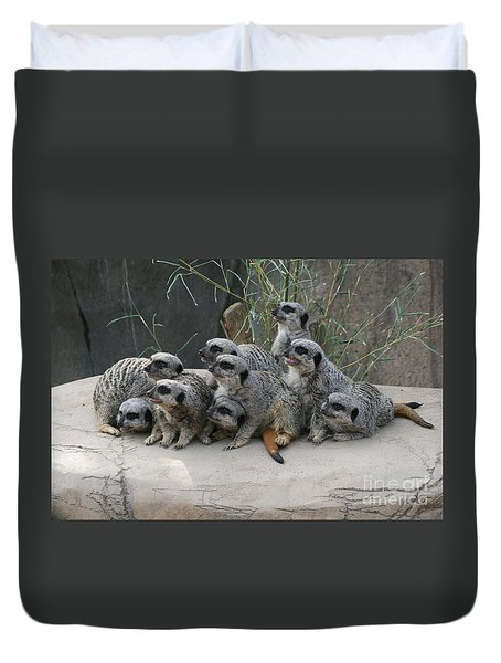 We Are Family Duvet Cover by Judy Whitton