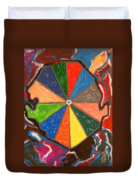 We Ate The Sands - Sierra Leone Duvet Cover by Mudiama Kammoh