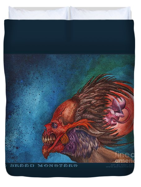 We Breed Monsters Duvet Cover