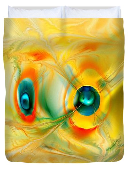 We Come In Peace Duvet Cover by Anastasiya Malakhova
