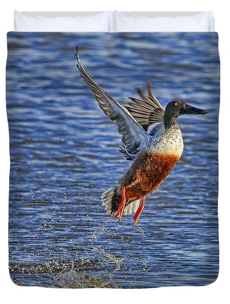 Duvet Cover featuring the photograph We Have Liftoff by Gary Holmes