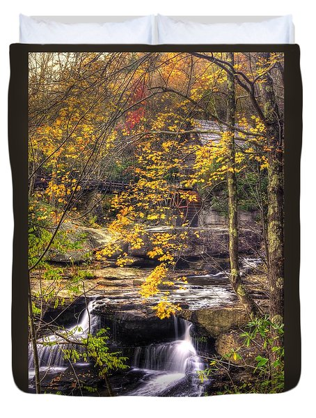 We Have Reached The Mill - Glade Creek Grist Mill Babcock State Park West Virginia - Autumn Duvet Cover