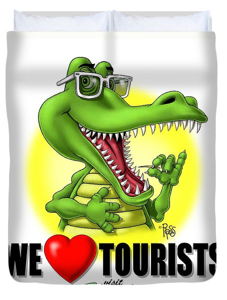 We Love Tourists Gator Duvet Cover
