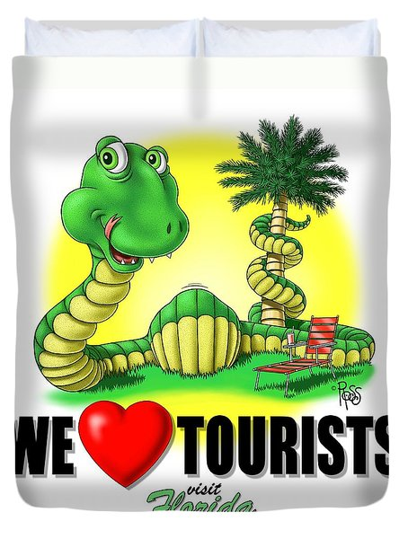 We Love Tourists Snake Duvet Cover