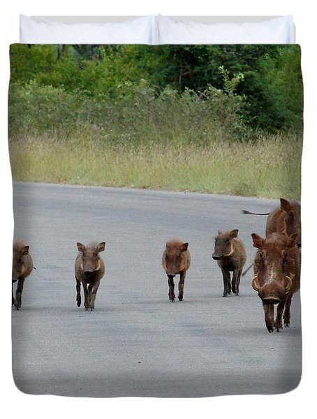 We Own The Road Duvet Cover by Ramona Johnston