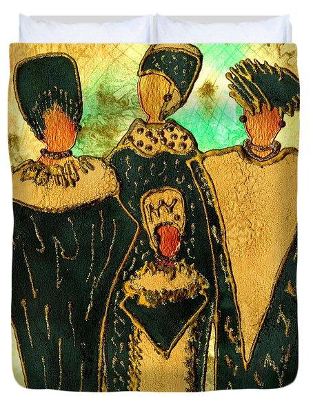 We Women 4 - Suede Version Duvet Cover by Angela L Walker