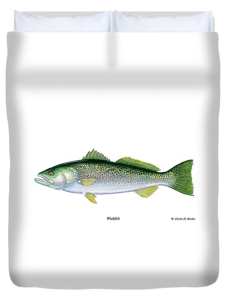 Weakfish Duvet Cover