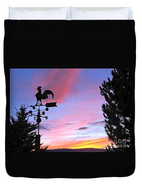Weather Vane Sunset Duvet Cover