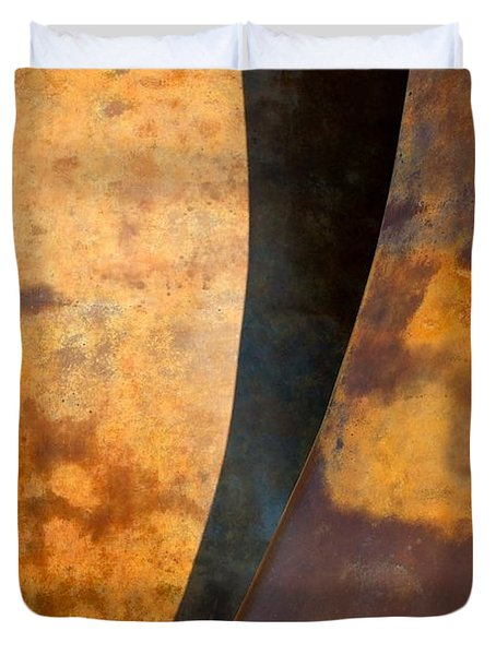 Weathered Bronze Abstract Duvet Cover