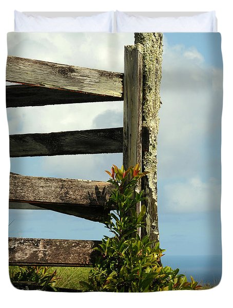 Weathered Fence Duvet Cover by Vivian Christopher