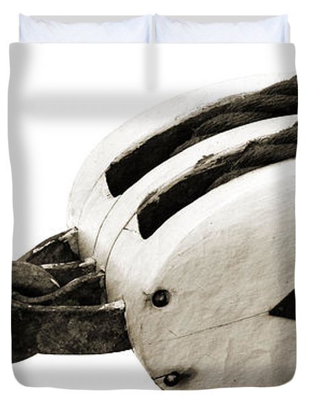 Weathered Pulley Duvet Cover
