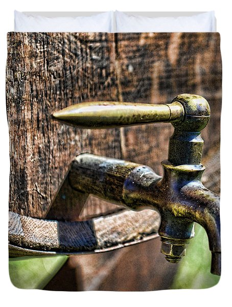 Weathered Tap And Barrel Duvet Cover by Paul Ward