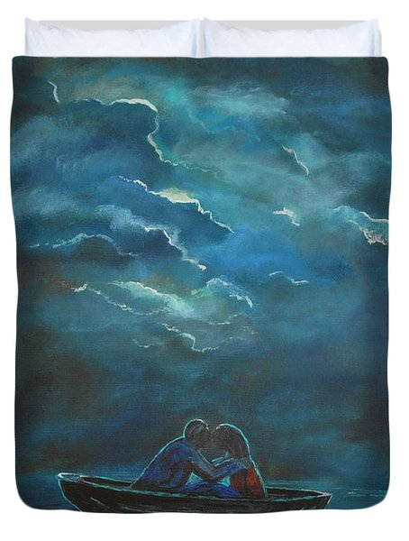 Weathering The Storm Duvet Cover by Leslie Allen