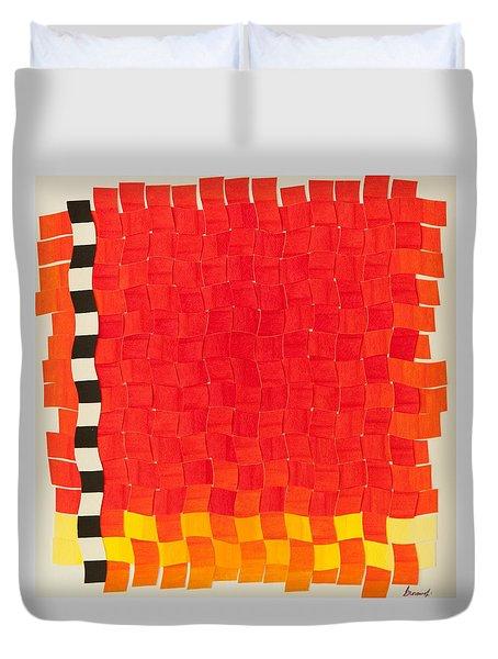Weave #2 Sunset Weave Duvet Cover
