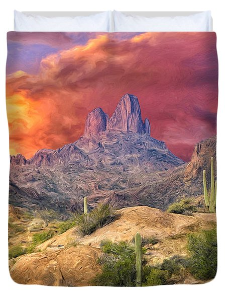 Weavers Needle Duvet Cover