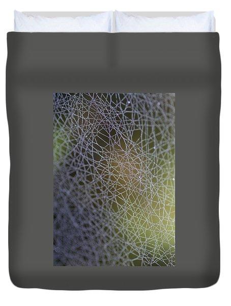 Web Connections Duvet Cover