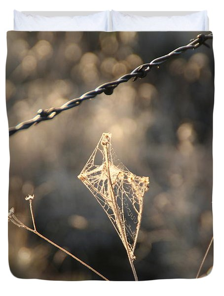 Duvet Cover featuring the photograph web by David S Reynolds