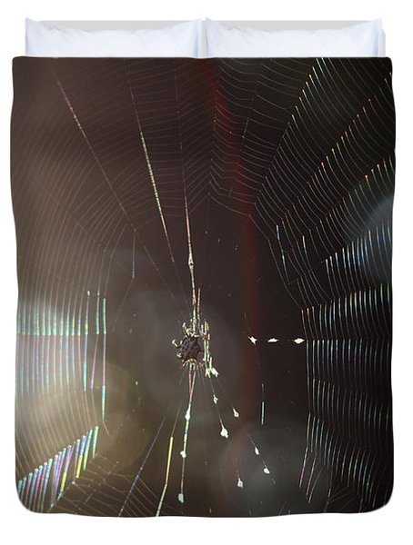 Web Of Flares Duvet Cover
