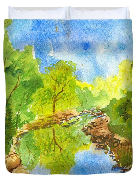 Weber River Reflection Duvet Cover