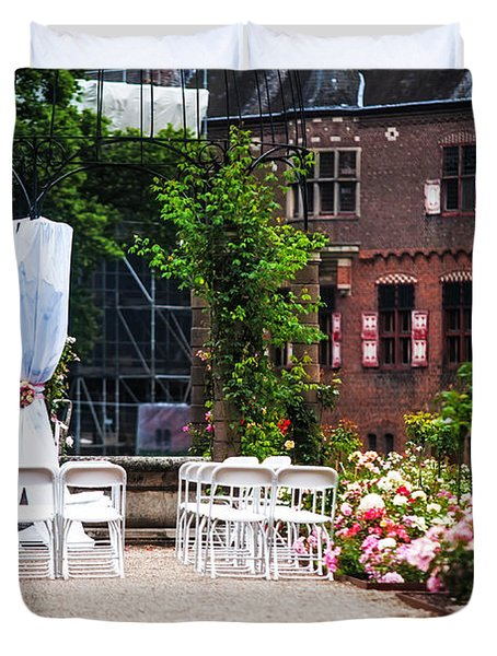 Wedding Arrangement In De Haar Castle. Utrecht  Duvet Cover by Jenny Rainbow