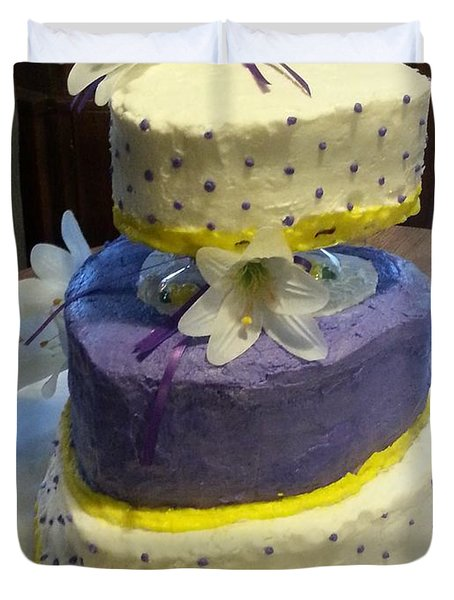 Wedding Cake For May Duvet Cover