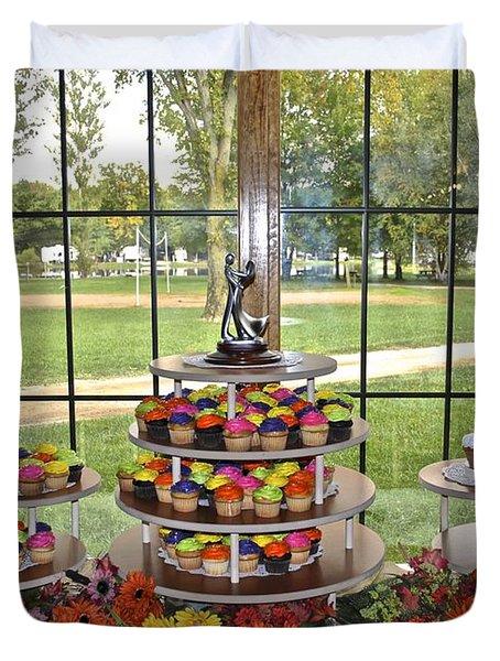 Wedding Cupcakes Duvet Cover