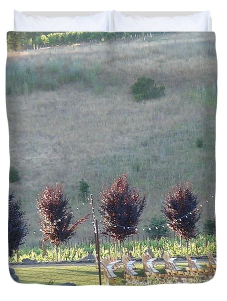 Duvet Cover featuring the photograph Wedding Grounds by Shawn Marlow