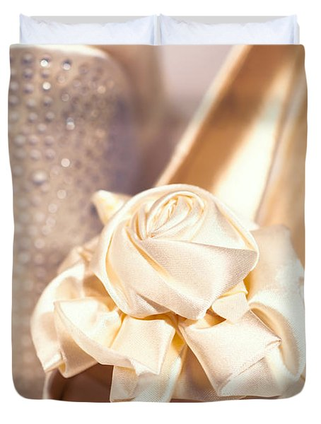 Wedding Shoes Duvet Cover