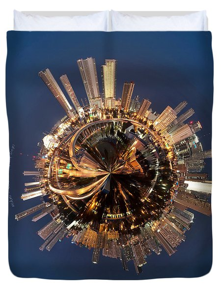 Wee Miami Planet Duvet Cover by Nikki Marie Smith