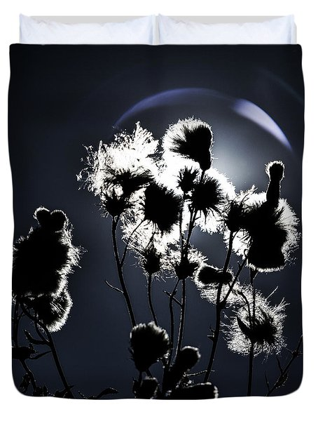 Weed Silhouette Duvet Cover by Mike Santis