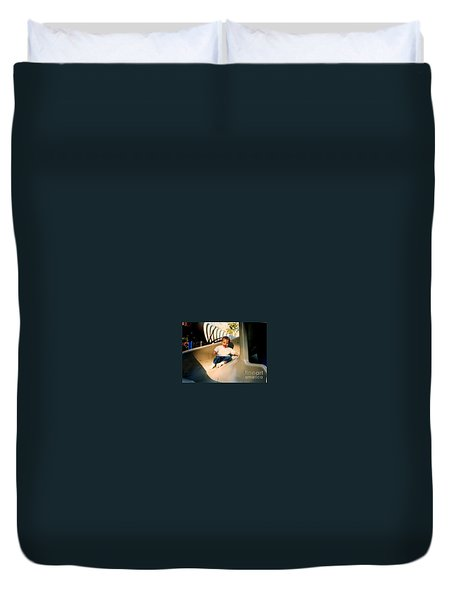 Duvet Cover featuring the photograph Weeeee by Kelly Awad
