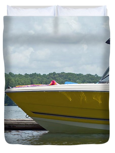 Duvet Cover featuring the photograph Weekend Fun by Charles Beeler