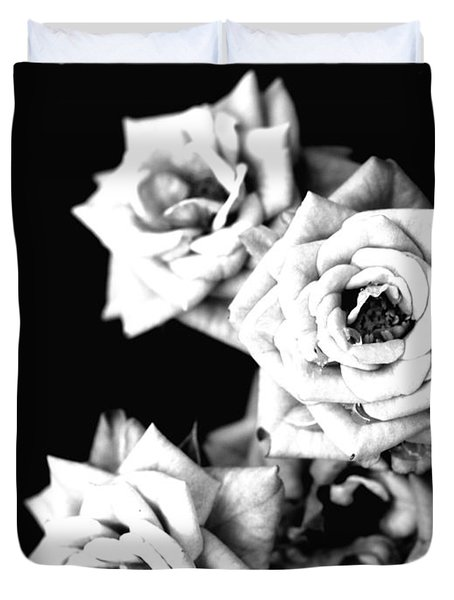 Duvet Cover featuring the photograph Weeping Roses by Rachel Mirror