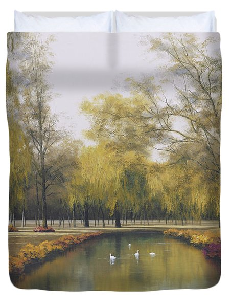 Weeping Willow Duvet Cover by Diane Romanello