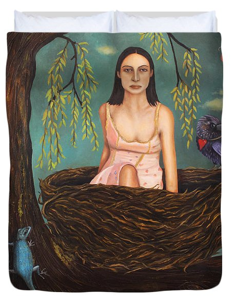 Weeping Willow Duvet Cover by Leah Saulnier The Painting Maniac