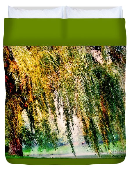 Weeping Willow Tree Painterly Monet Impressionist Dreams Duvet Cover