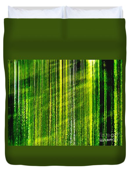 Weeping Willow Tree Ribbons Duvet Cover