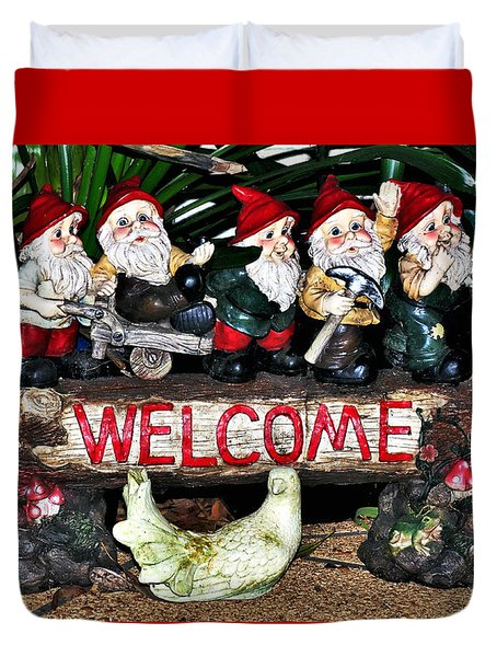 Welcome From The Seven Dwarfs Duvet Cover by Kaye Menner