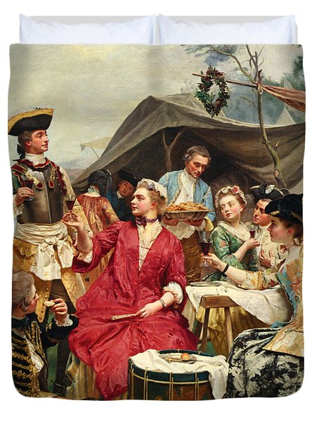 Welcome Duvet Cover by Gustave Jean Jacquet