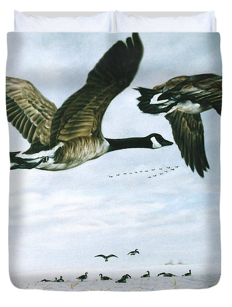 Duvet Cover featuring the painting Welcome Home by Craig T Burgwardt