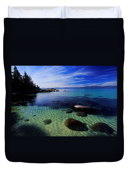 Welcome To Bliss Beach Duvet Cover