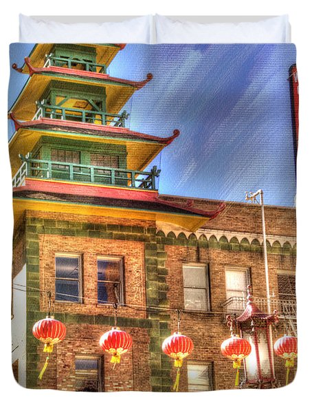 Welcome To Chinatown Duvet Cover by Juli Scalzi