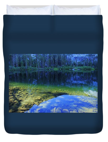 Welcome To Eagle Lake Duvet Cover