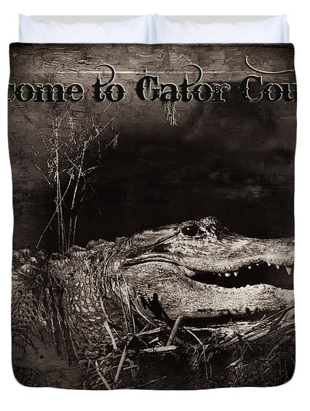 Welcome To Gator Country Duvet Cover